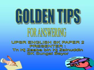 GOLDEN TIPS PAPER 2