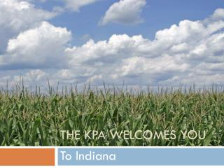 The KPA Welcomes You
