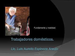 Trabajadores domésticos . Lic. Luis Aurelio Espinoza Araujo