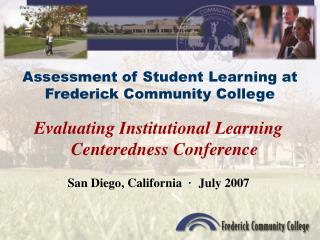 Assessment of Student Learning at Frederick Community College