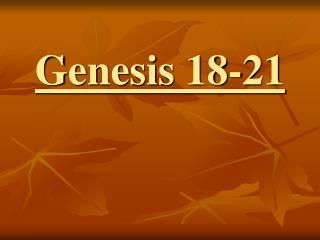 Genesis 18-21