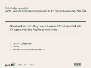Dr. Lothar  Nunnenmacher