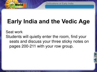 Early India and the Vedic Age