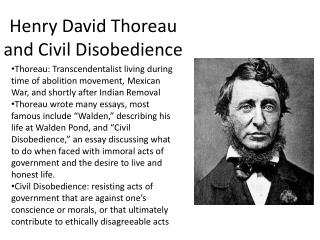 Henry David Thoreau and Civil Disobedience