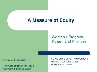 A Measure of Equity