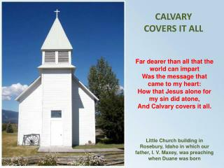 CALVARY COVERS IT ALL