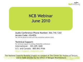 NCB Webinar June 2010