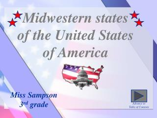 Midwestern states  of the United States  of America