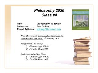 Philosophy 2030 Class #4