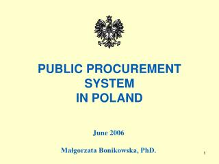 PUBLIC PROCUREMENT SYSTEM IN POLAND