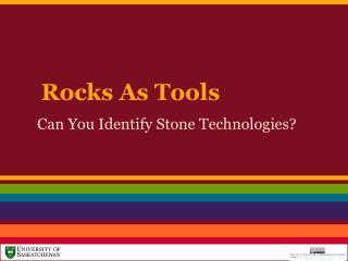 Rocks As Tools