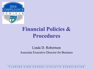 Financial Policies & Procedures