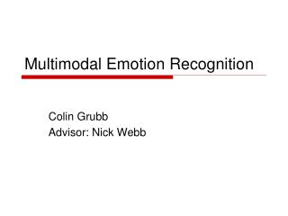 Multimodal Emotion Recognition