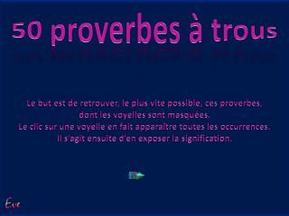 50 proverbes à trous