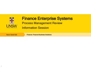 Finance Enterprise Systems