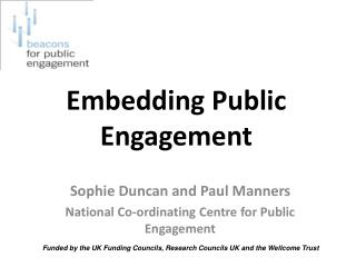Embedding Public Engagement