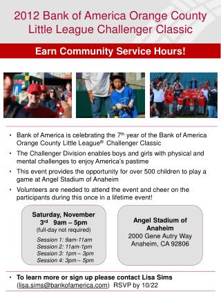 2012 Bank of America Orange County Little League Challenger Classic