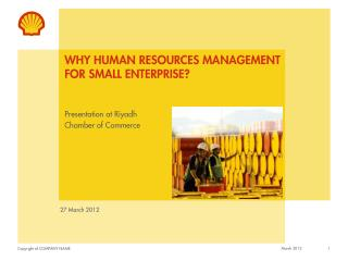 Why Human resources Management for Small enterprise?