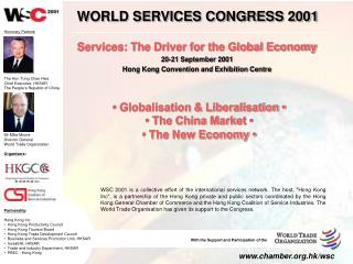 Services: The Driver for the Global Economy 20-21 September 2001
