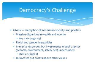 Democracy's Challenge