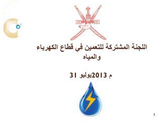 اللجنة المشتركة للتعمين في قطاع الكهرباء والمياه