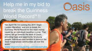 Help me in my bid to break the Guinness World Record TM !!