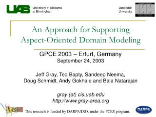 An Approach for Supporting  Aspect-Oriented Domain Modeling