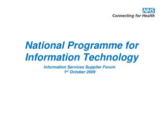 National Programme for Information Technology
