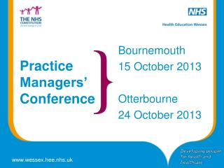 Practice Managers' Conference