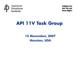 API 11V Task Group