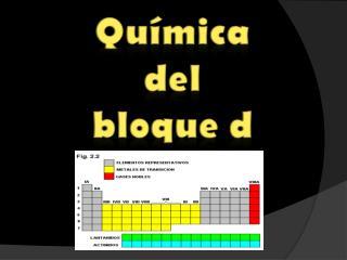Química  del  bloque d