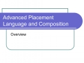 Advanced Placement Language and Composition