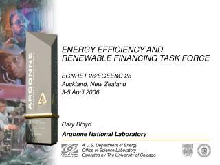 ENERGY EFFICIENCY AND RENEWABLE FINANCING TASK FORCE