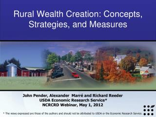 Rural Wealth Creation: Concepts, Strategies, and Measures