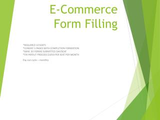 E-Commerce Form Filling
