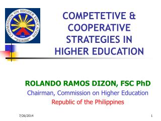 COMPETETIVE & COOPERATIVE STRATEGIES IN HIGHER EDUCATION