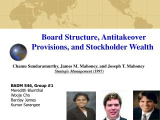 Board Structure, Antitakeover Provisions, and Stockholder Wealth