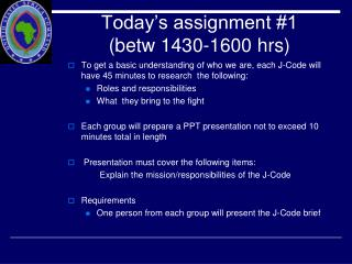 Today's assignment #1 (betw 1430-1600 hrs)