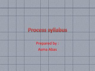 Process syllabus