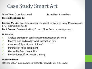 Case Study  Smart  Art