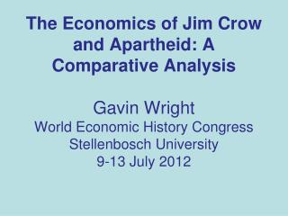 Civil Rights Economics [ according to Wright]