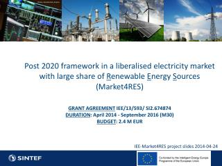 IEE-Market4RES project slides 2014-04-24