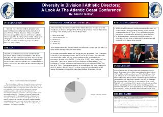 Diversity in Division I Athletic Directors: A Look At The Atlantic Coast Conference
