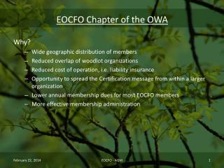 EOCFO Chapter of the OWA