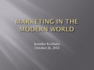 Marketing in the modern world