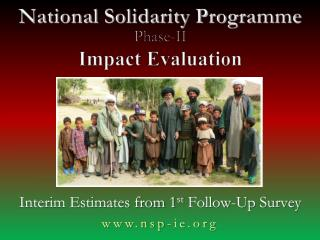 National Solidarity  Programme Phase-II Impact Evaluation