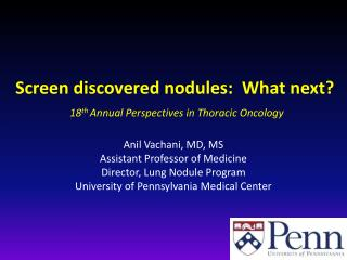 Screen  discovered nodules:   What  next ?