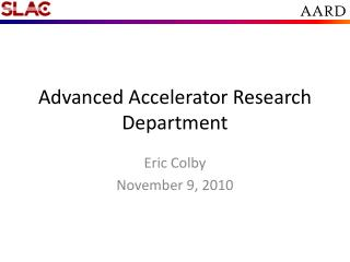 Advanced Accelerator Research Department
