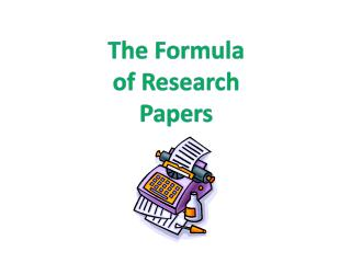 The Formula of Research Papers