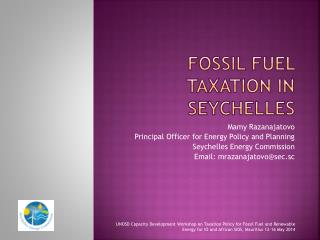 Fossil Fuel Taxation in Seychelles